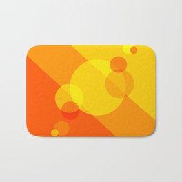 Orange Spheres Abstract Bath Mat
