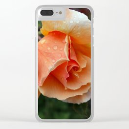 Blood rose Clear iPhone Case