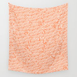 Microchip Pattern (Orange) Wall Tapestry