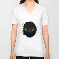 toothless V-neck T-shirts featuring Toothless  by aleha