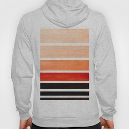 Burnt Sienna Minimalist Mid Century Modern Color Fields Ombre Watercolor Staggered Squares Hoody