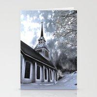 finland Stationery Cards featuring Church in Kuusamo, Finland by Guna Andersone & Mario Raats - G&M Studi