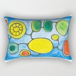 Watercolor Orbs N Lines 12 Rectangular Pillow
