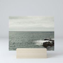 Watching the sea Mini Art Print
