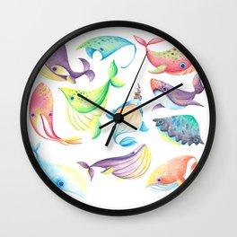 Awkard Fishes Wall Clock