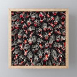 T-Rex Feeding Time Framed Mini Art Print