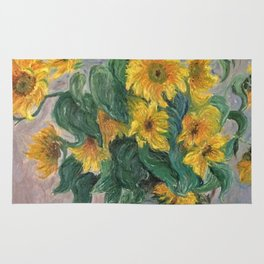 Claude Monet Bouquet Of Sunflowers 1881 Rug