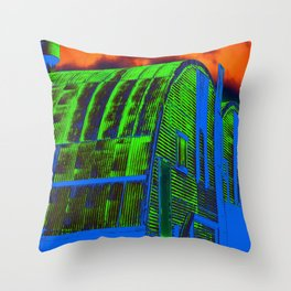 Storage Barn in Color Throw Pillow