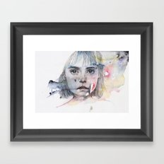 little girl's shadow Framed Art Print