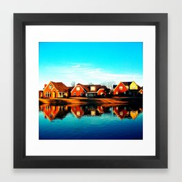 suburbia. Framed Art Print