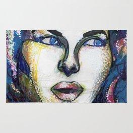 Pop Art Woman Rug