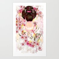 japanese Art Prints featuring Japanese by Felicia Cirstea