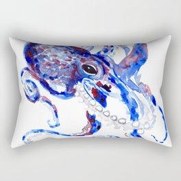 Blue Purple Octopus Rectangular Pillow