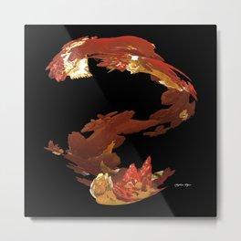 Spiral Flames Metal Print
