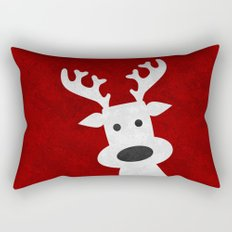 Christmas reindeer red marble Rectangular Pillow