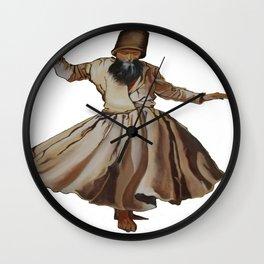 Whirling Dervish Conveys God's Spiritual Gift Wall Clock