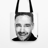 liam payne Tote Bags featuring Liam Payne - One Direction by jrrrdan