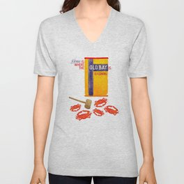 Home is where the Old Bay is. Unisex V-Neck
