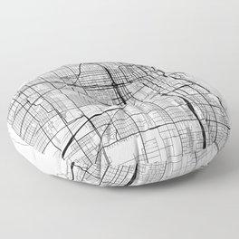 Chicago Map White Floor Pillow