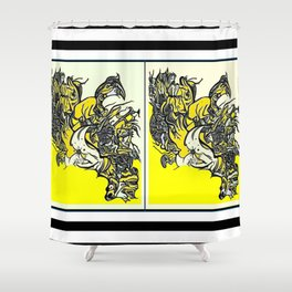 When the world fulls down, will you still be standing? Shower Curtain