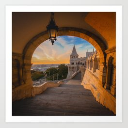 Fisherman's Bastion in Budapest, Hungary Art Print