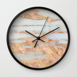 Creme Fraiche Marble with Rose Gold Veins Wall Clock
