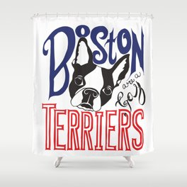 Boston Terriers are a Gas Shower Curtain