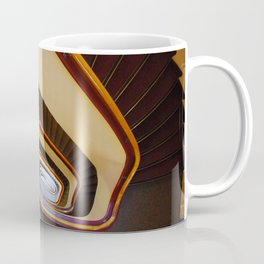 A stairway, staircase, stairwell, flight of stairs, trappenhuis. Coffee Mug