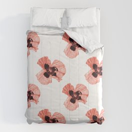 Pattern Coquelicots Rose Comforters