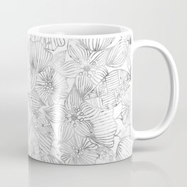 Hand painted black white watercolor tribal floral Coffee Mug