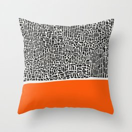 City Sunset Abstract Throw Pillow