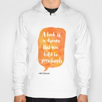 neil gaiman Hoodies featuring Mango, Neil Gaiman, quotes, inspirational art, bookish by Good vibes and coffee