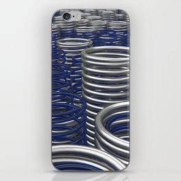Glass and metal springs and coils iPhone Skin