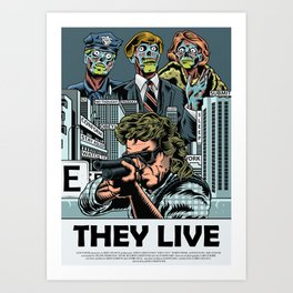 "John Carpenter's ""They Live"" Art Print"