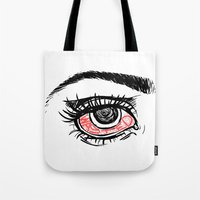 wasted rita Tote Bags featuring wasted by Water On Mars