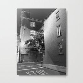 Minetta Street - Solarized Metal Print