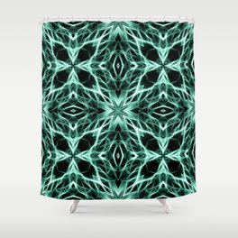 Abstract Geometric Light Factual Kelly Green Shower Curtain