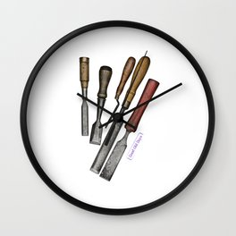 chisels Wall Clock