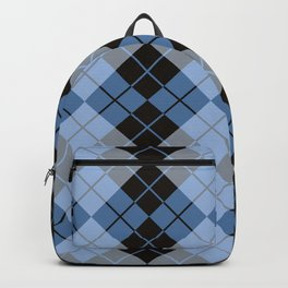 Argyle in Blue and Black Backpack