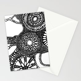 graphic dots pattern Stationery Cards
