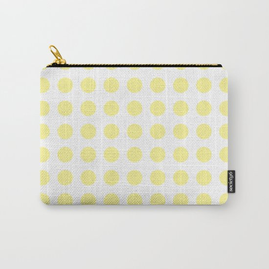 Simply Polka Dots in Pastel Yellow Carry-All Pouch