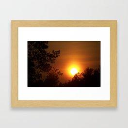 Sunset in Kentucky and Ohio Framed Art Print