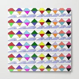 Pyramids & Waves Metal Print