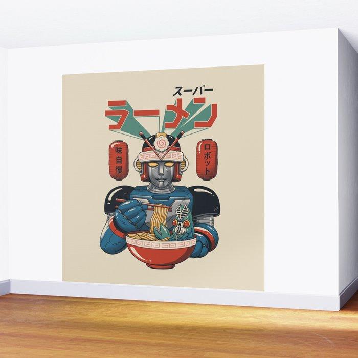 Super Ramen Bot Wall Mural