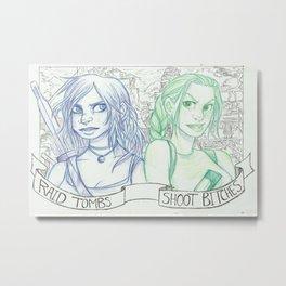 Raid Tombs - Shoot Bitches Metal Print