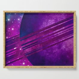 Purple Planet Serving Tray