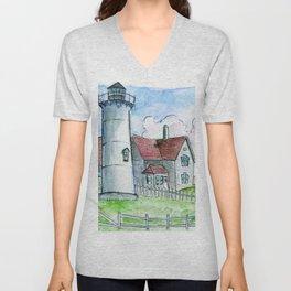 Nobska Lighthouse Unisex V-Neck