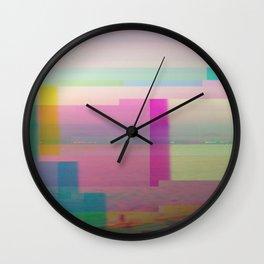 SCRATCHED DISK - Glitch Art Print Wall Clock