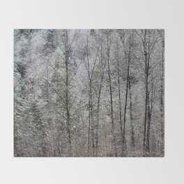 Snow Dusted Trees, No. 1 Throw Blanket