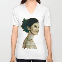 concrete V-neck T-shirts featuring Concrete Butterflies by ARJr